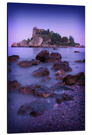 Tableau en aluminium  Sicily Taormina View of Isola Bella2 - Mayday74