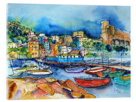 Verre acrylique  Lerici Liguria At the harbor - Hartmut Buse