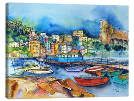 Toile  Lerici Liguria At the harbor - Hartmut Buse