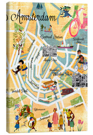 Tableau sur toile  Amsterdam Collage - GreenNest