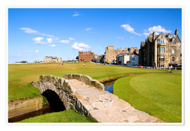 Poster  Vue sur le Old Course à St Andrews - Bill Bachmann