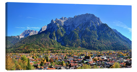 Tableau sur toile  Mittenwald - FineArt Panorama