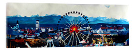 Verre acrylique  Munich Oktoberfest with Alps Panorama - M. Bleichner
