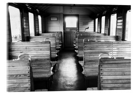 Tableau en verre acrylique  Old train compartment - Falko Follert