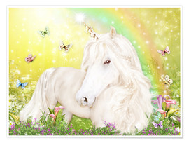 Poster  Unicorn of Happiness - Dolphins DreamDesign