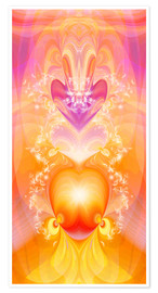 Poster  Spirit Love - I follow my loving heart - Dolphins DreamDesign