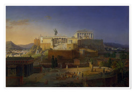 Poster  The Acropolis of Athens, 1846 - Leo von Klenze