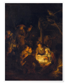 Rembrandt van Rijn - Adoration of the Shepherds. 1646