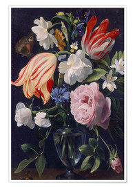Poster  Vase with flowers. 1637 - Daniel Seghers
