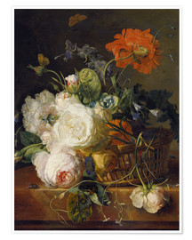 Poster Basket of flowers. (1710/20)