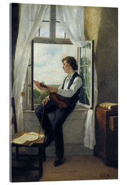 Tableau en verre acrylique  The violinist at the window in 1861 - Otto Franz Scholderer