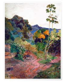 Poster  Coastal landscape on Martinique - Paul Gauguin