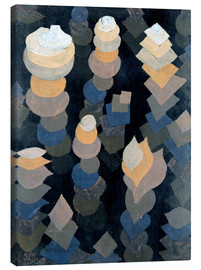 Toile  Growth of the night plants - Paul Klee