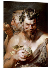 Verre acrylique  Two Satyrs - Peter Paul Rubens
