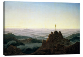 Toile  Morning in the Giant Mountains - Caspar David Friedrich