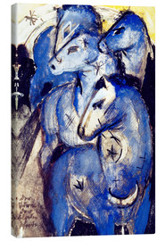 Toile  Tower Blue Horse - Franz Marc