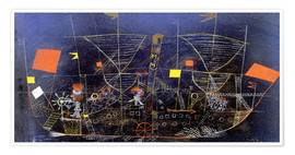 Poster  The adventure ship - Paul Klee