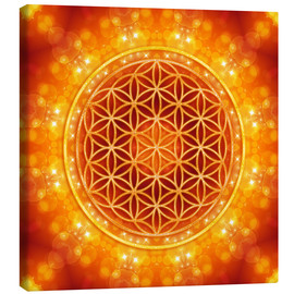 Toile  Flower of Life - Golden Age - Dolphins DreamDesign