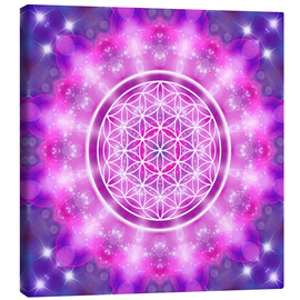Toile  Flower of Life - Love Essence - Dolphins DreamDesign