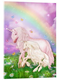 Verre acrylique  Unicorn Rainbow Magic - Dolphins DreamDesign