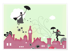 Poster Mary Poppins à Londres
