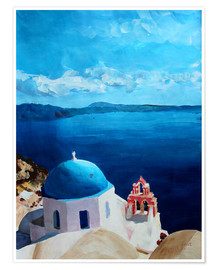 Poster  Santorini - View from Oia - M. Bleichner