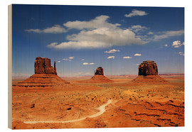 Tableau en bois  Monument national Navajo , Monument Valley - Renate Knapp