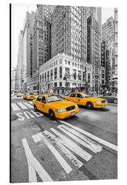Tableau en aluminium  Taxis jaunes, New York - Marcus Klepper