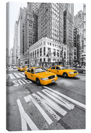 Toile  New York Taxis jaunes - Marcus Klepper