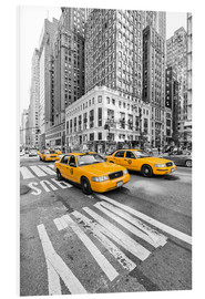 Tableau en PVC  Taxis jaunes, New York - Marcus Klepper
