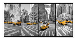 Poster New York Cab Collage