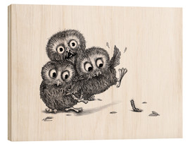 Bois  Help, three owls and a monster - Stefan Kahlhammer