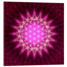 Verre acrylique  Flower of life - Symbol harmony and balance - red - Lava Lova