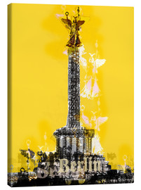 Tableau sur toile  Berlin Victory Column (on Yellow) - JASMIN!