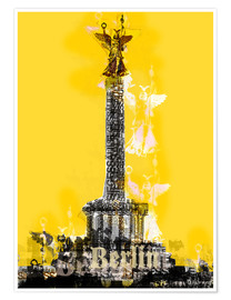 Poster  Berlin Victory Column (on Yellow) - JASMIN!