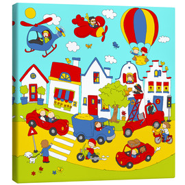 Tableau sur toile  our busy street - Fluffy Feelings