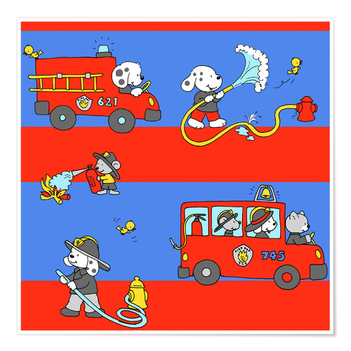 Poster animal fire brigade