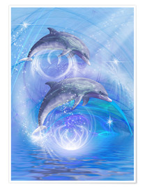 Poster  Dauphins joyeux - Dolphins DreamDesign