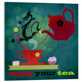 Verre acrylique  enjoy your tea - Elisandra Sevenstar