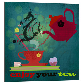 Tableau en aluminium  Enjoy your tea - Elisandra Sevenstar