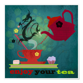 Poster  Enjoy your tea - Elisandra Sevenstar