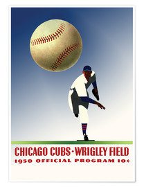 Poster  chicago cubs 1950 - Sporting Frames