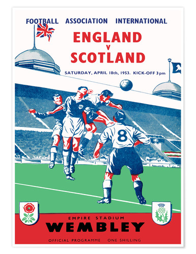 Poster england vs scotland 1953