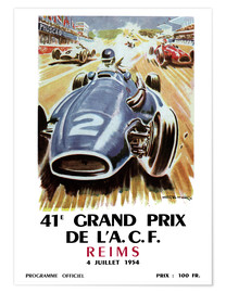 Poster  Grand prix de Reims - Sporting Frames
