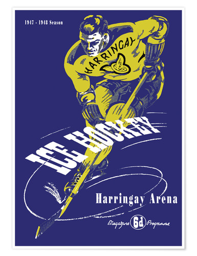 Poster harringay ice hockey