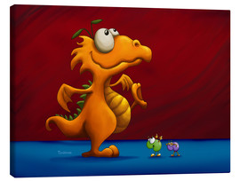 Tableau sur toile  Dragon orange - Tooshtoosh