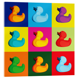Verre acrylique  pop art duck - coico