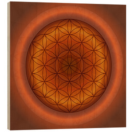 Tableau en bois  Flower of life 1 - Christine Bässler
