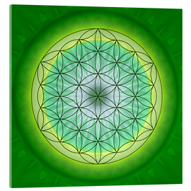 Verre acrylique  Flower of Life 3 - Christine Bässler