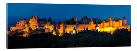 Tableau en verre acrylique  France - Castle Carcassone - Tobias Richter